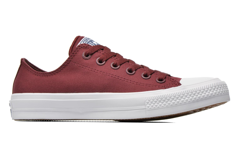 Sneaker Converse Chuck Taylor All Star II Ox W weinrot ansicht von hinten