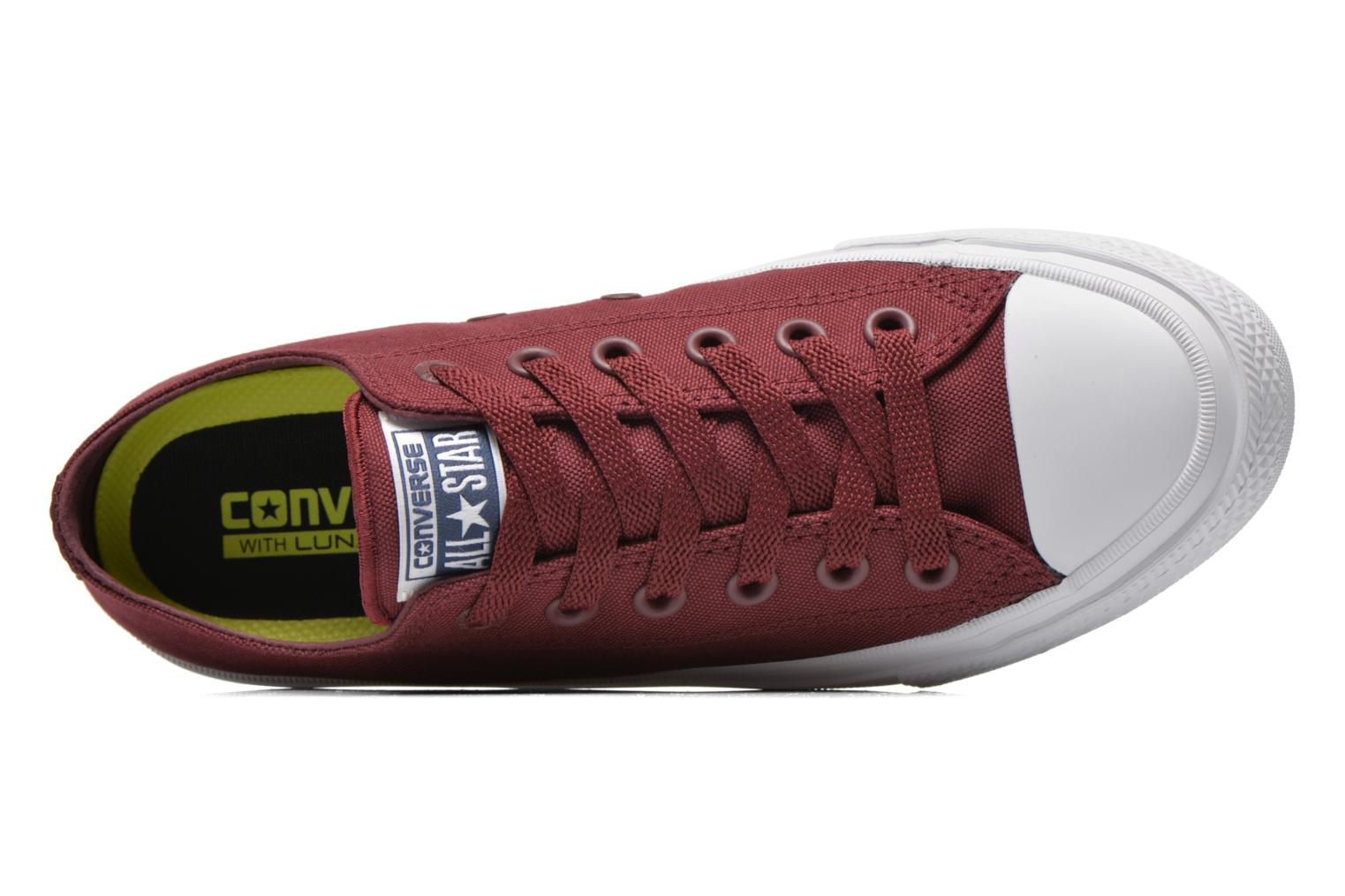 Trainers Converse Chuck Taylor All Star II Ox W Burgundy view from the left