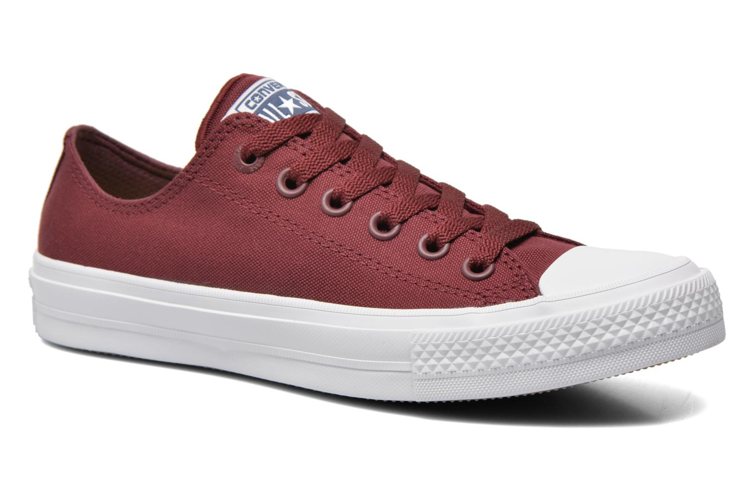 Trainers Converse Chuck Taylor All Star II Ox W Burgundy detailed view/ Pair view