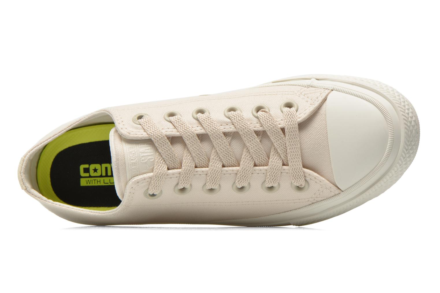 Trainers Converse Chuck Taylor All Star II Ox W Beige view from the left