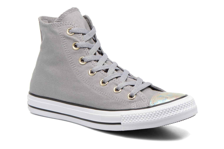 Zapatos promocionales Converse Chuck Taylor All Star Hi Oil Slick Toe Cap W (Gris) - Deportivas   Gran descuento