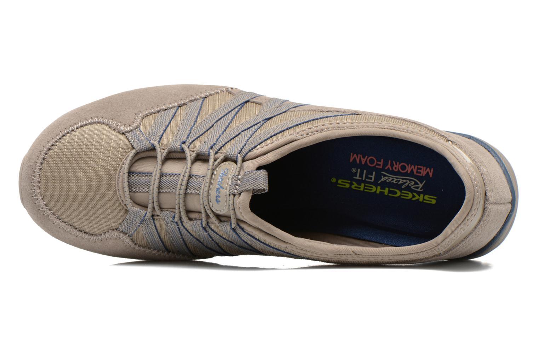 Baskets Skechers Conversations - Holding Aces 22551 Beige vue gauche