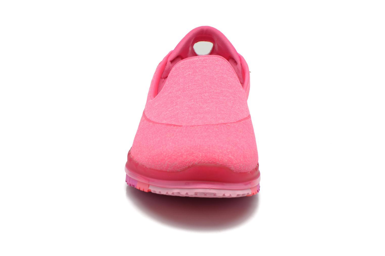 Sportschuhe Skechers Go Flex 14010 rosa schuhe getragen