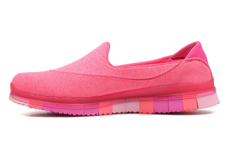 Sportschuhe Skechers Go Flex 14010 rosa ansicht von vorne