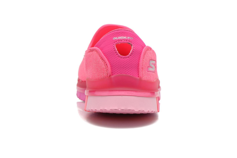 Sportschuhe Skechers Go Flex 14010 rosa ansicht von rechts