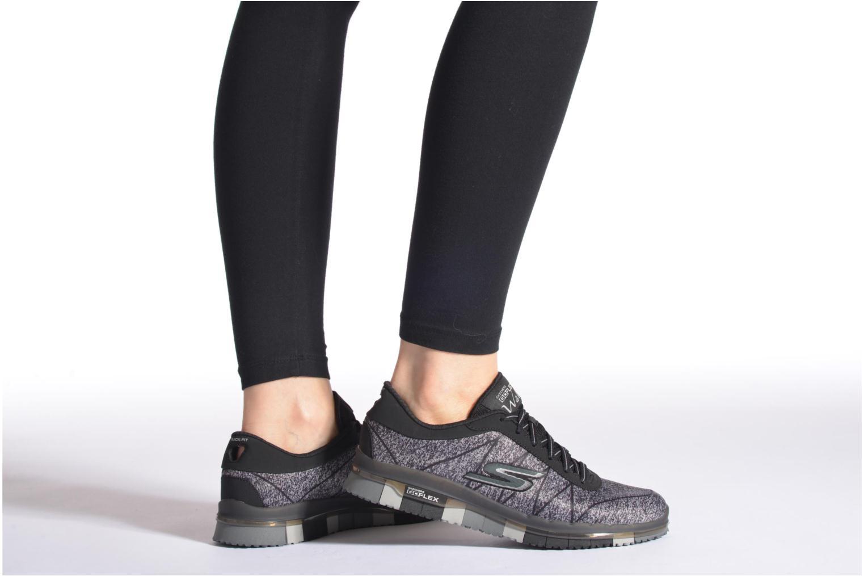 Sportschuhe Skechers Go Flex - Ability 14011 schwarz ansicht von unten / tasche getragen