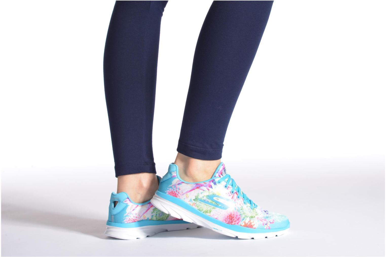 Sportschuhe Skechers Go Fit Tr - Bayrose 14091 mehrfarbig ansicht von unten / tasche getragen