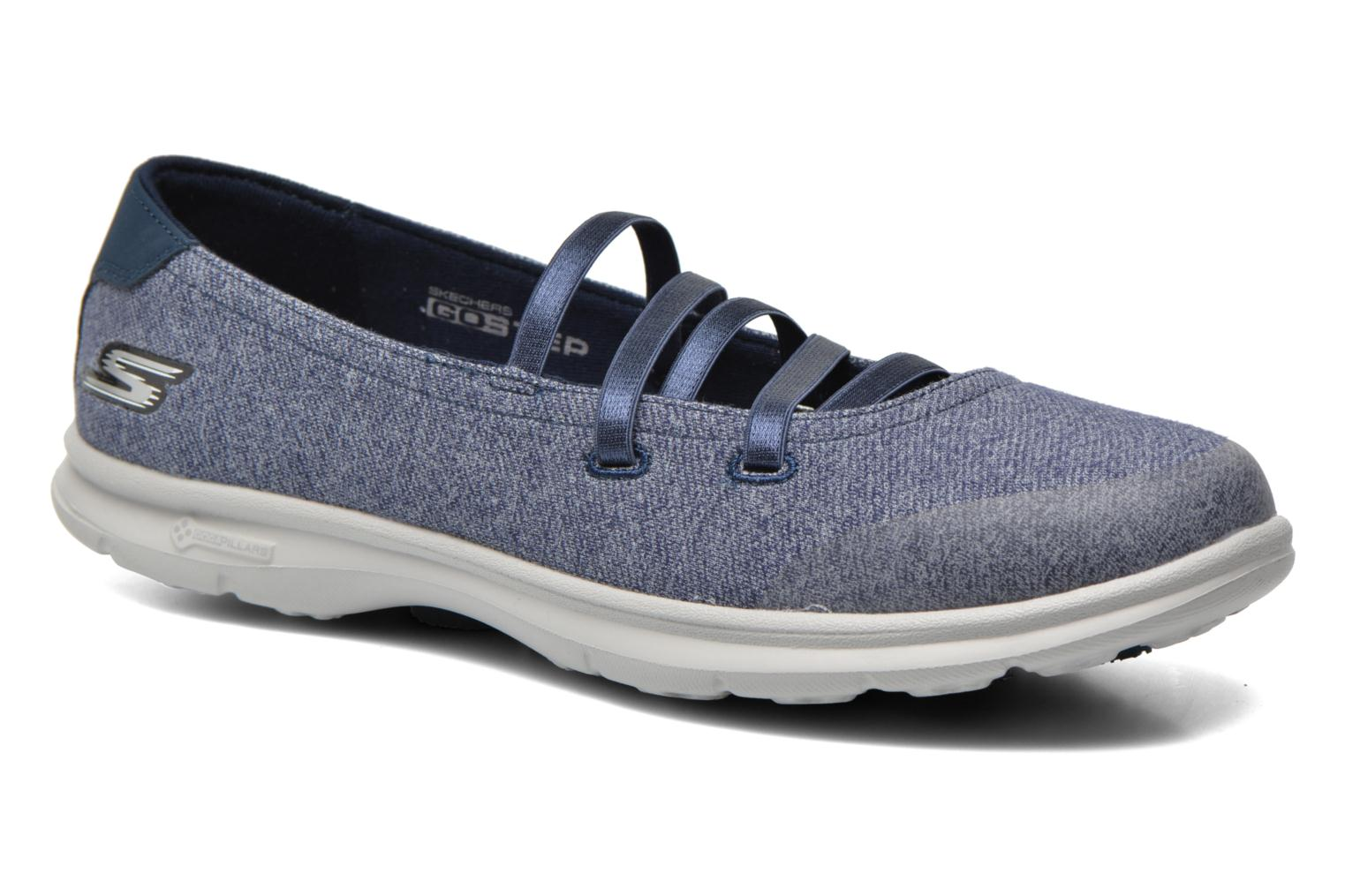 Ballet pumps Skechers Go Step - Pose 14209 Blue detailed view/ Pair view