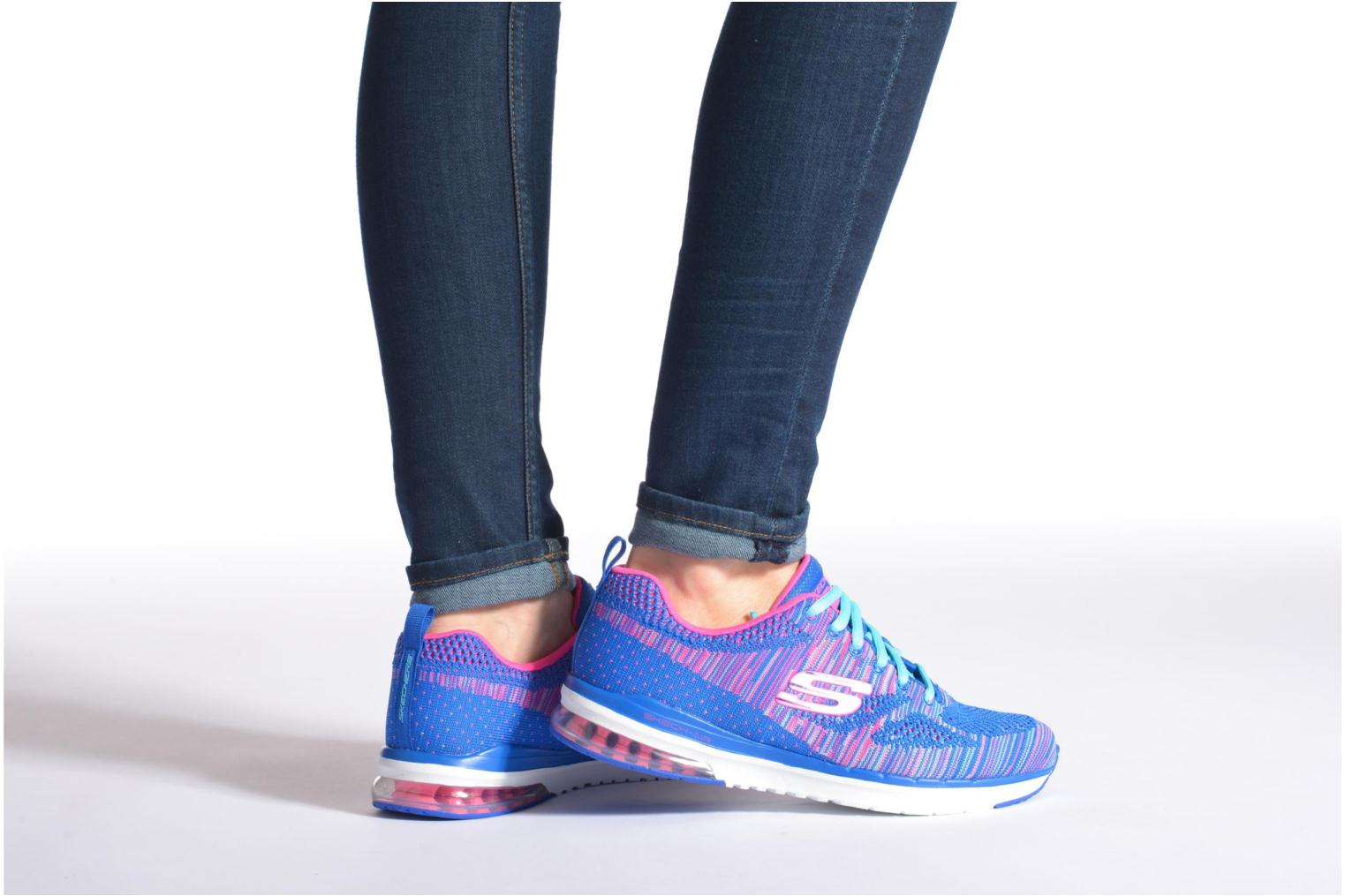 Sport shoes Skechers Skech-Air Infinity-Wlidcard 12113 Blue view from underneath / model view