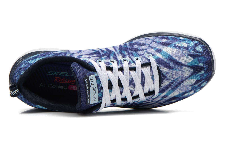 Sportschuhe Skechers Valeris - Mai Tai 12222 blau ansicht von links
