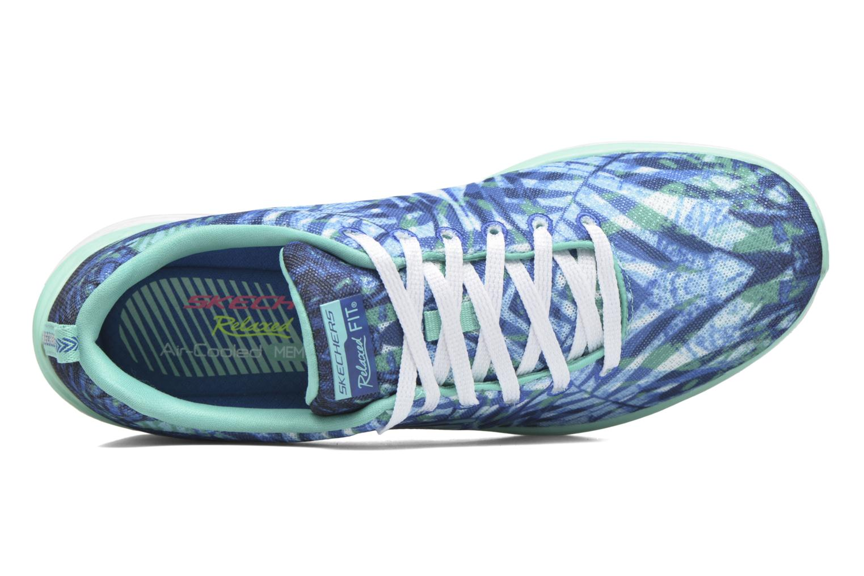 Sportschoenen Skechers Valeris - Mai Tai 12222 Blauw links