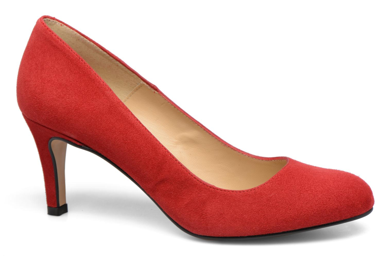 Selina cuir velours rouge
