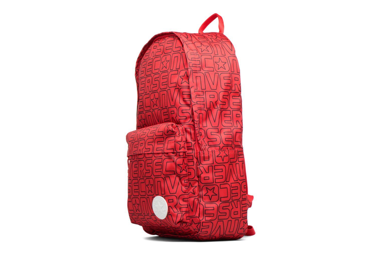 Sacs à dos Converse Core Poly Backpack M Bordeaux vue portées chaussures