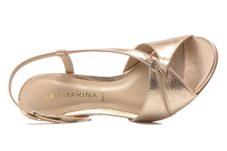 Sandales et nu-pieds San Marina Vueda/Met Or et bronze vue gauche