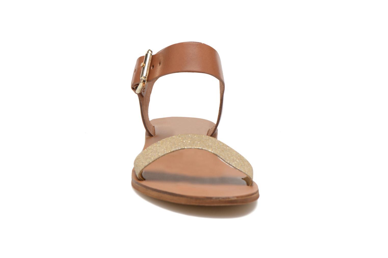 Sandalen San Marina Delbana gold/bronze schuhe getragen
