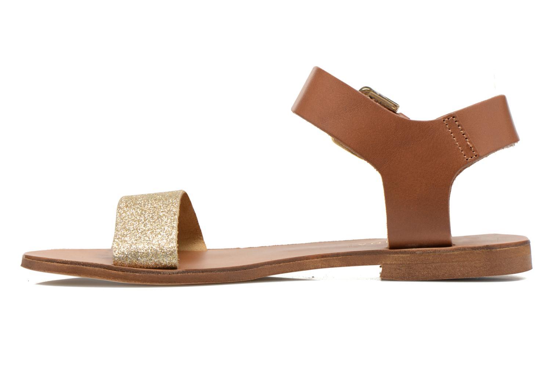 Sandalen San Marina Delbana gold/bronze ansicht von vorne