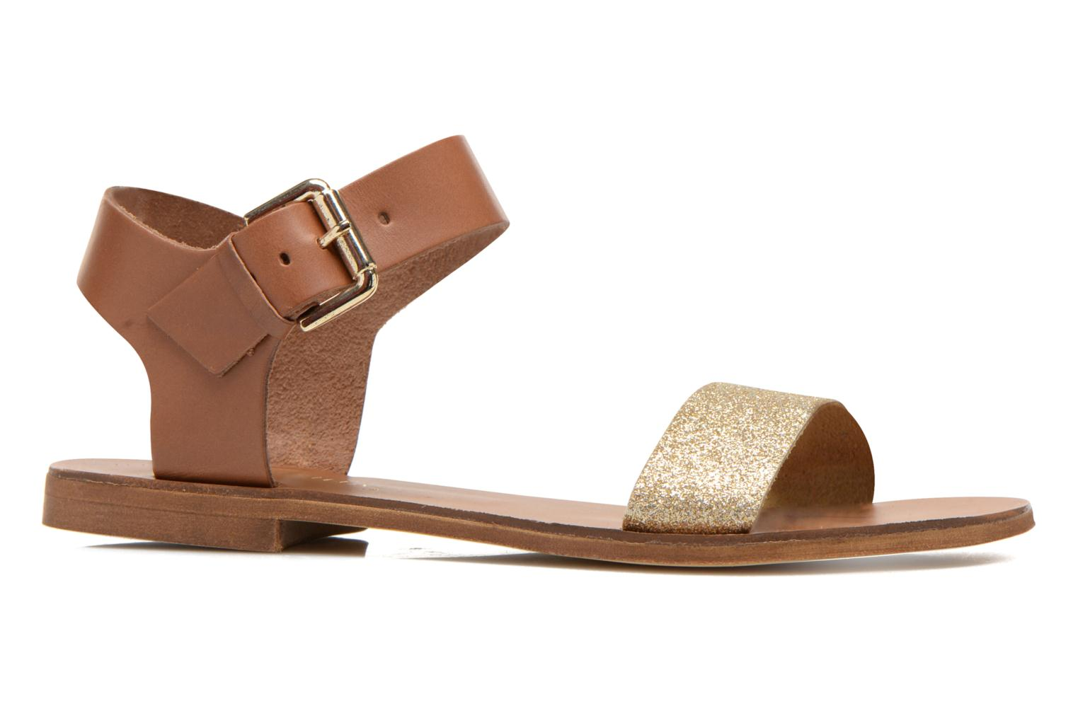 Sandals San Marina Delbana Bronze and Gold back view