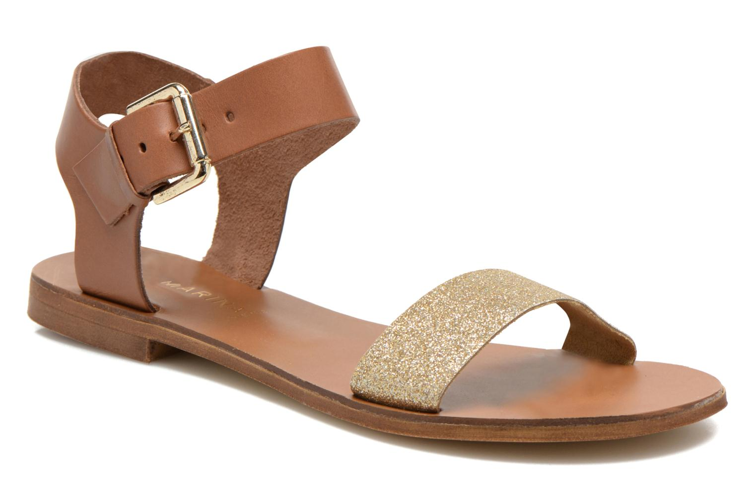 Sandals San Marina Delbana Bronze and Gold detailed view/ Pair view