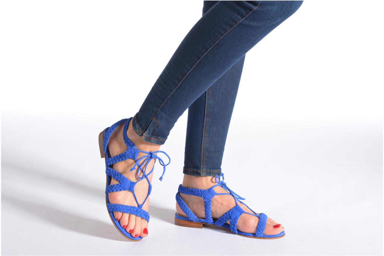 Sandales et nu-pieds San Marina Vesma/Nub Bleu vue bas / vue portée sac