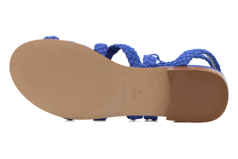 Sandales et nu-pieds San Marina Vesma/Nub Bleu vue haut