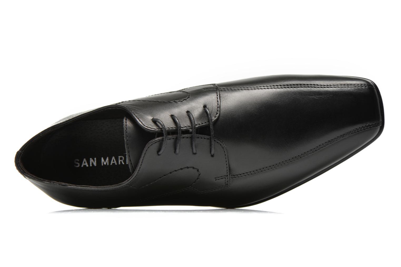 Zapatos con cordones San Marina Acero Negro vista lateral izquierda