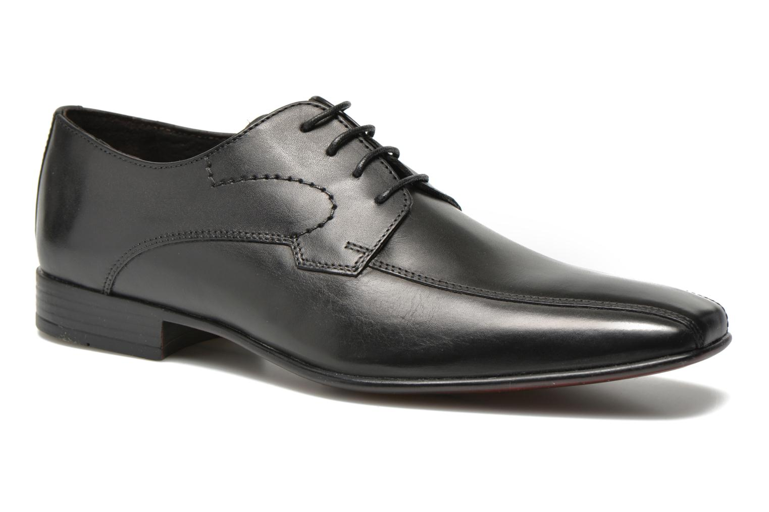 Lace-up shoes San Marina Acero Black detailed view/ Pair view