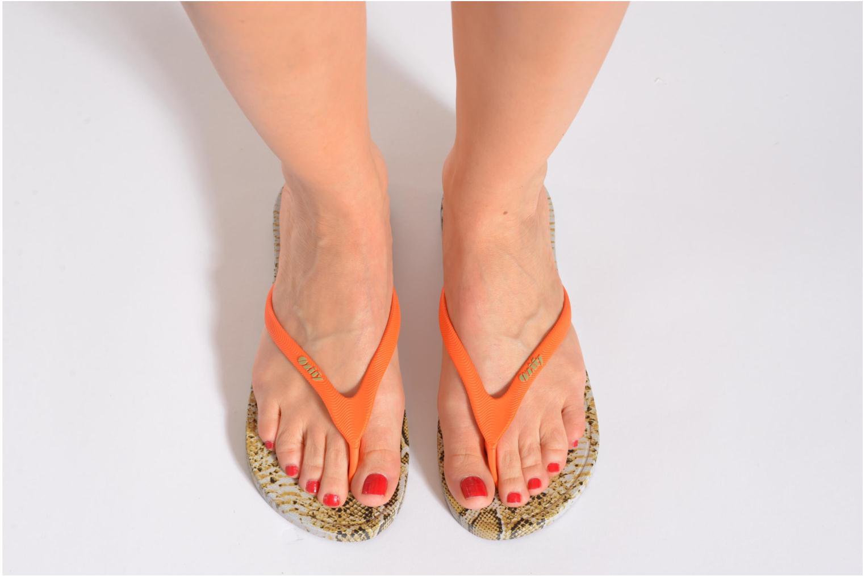 Flip flops Ozify Print W Orange view from underneath / model view