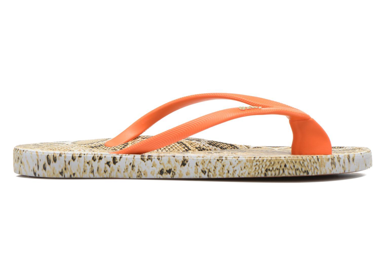 Flip flops Ozify Print W Orange back view