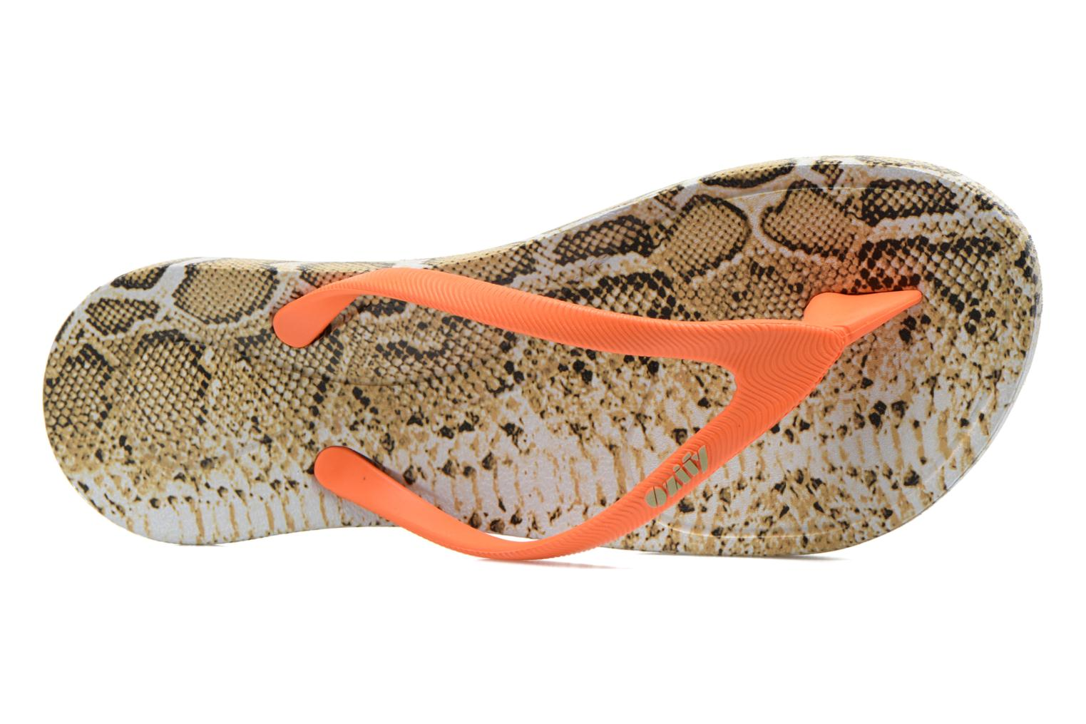 Flip flops Ozify Print W Orange view from the left