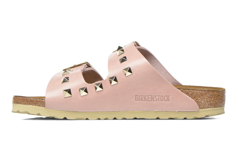 Clogs og træsko Birkenstock Arizona Cuir Studded W (Smal model) Pink se forfra