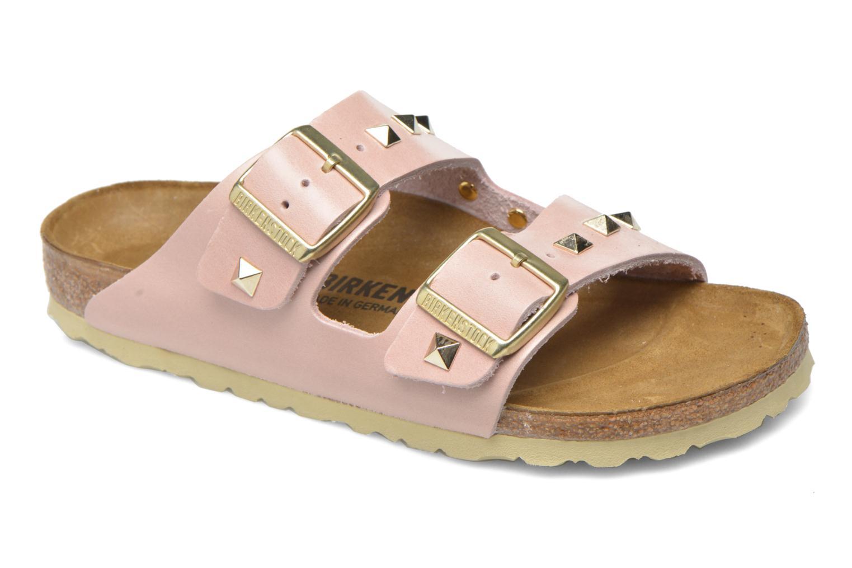 Clogs og træsko Birkenstock Arizona Cuir Studded W (Smal model) Pink detaljeret billede af skoene