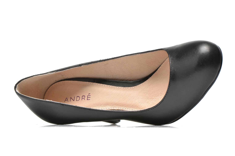 Escarpins André Glamour Noir vue gauche