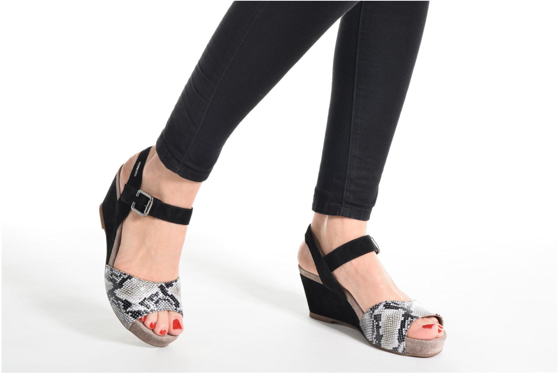 Sandales et nu-pieds Mephisto BEAUTY Gris vue bas / vue portée sac