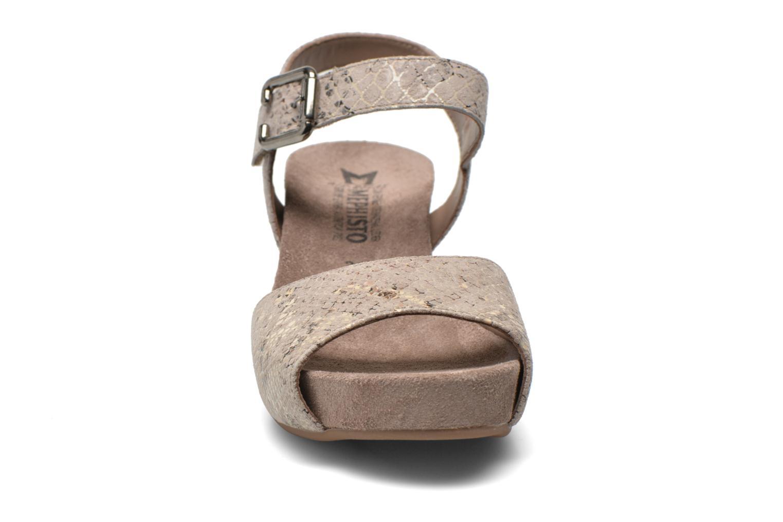 Sandales et nu-pieds Mephisto BEAUTY Gris vue portées chaussures