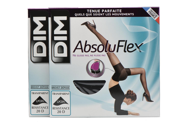 Chaussettes et collants Dim Collant ABSOLU FLEX TRANSPARENT Pack de 2 Noir vue détail/paire