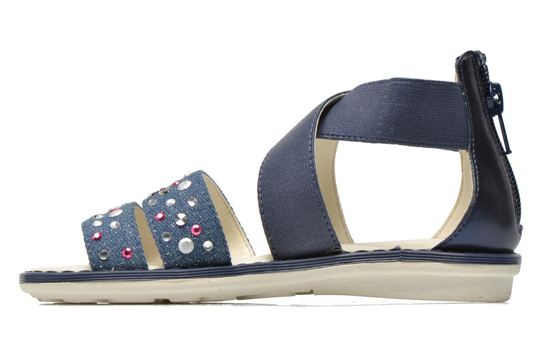 Sandals Geox JR Sandal Milk J52D1E Blue front view