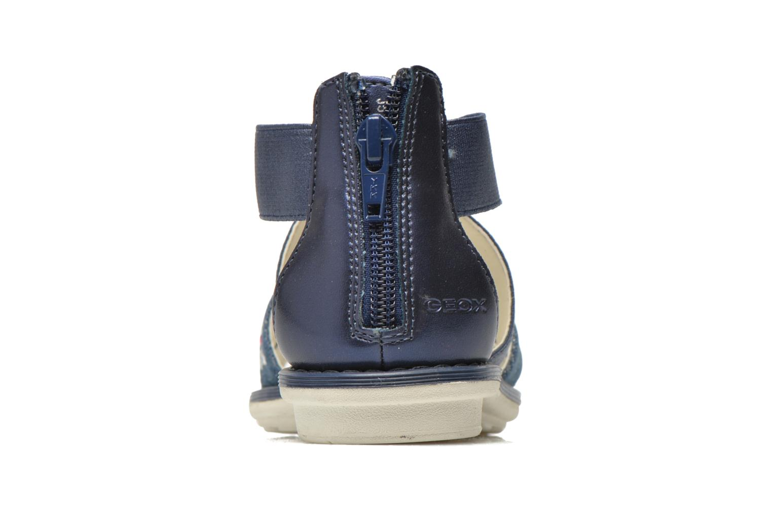 Sandals Geox JR Sandal Milk J52D1E Blue view from the right