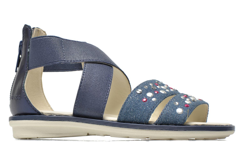 Sandals Geox JR Sandal Milk J52D1E Blue back view