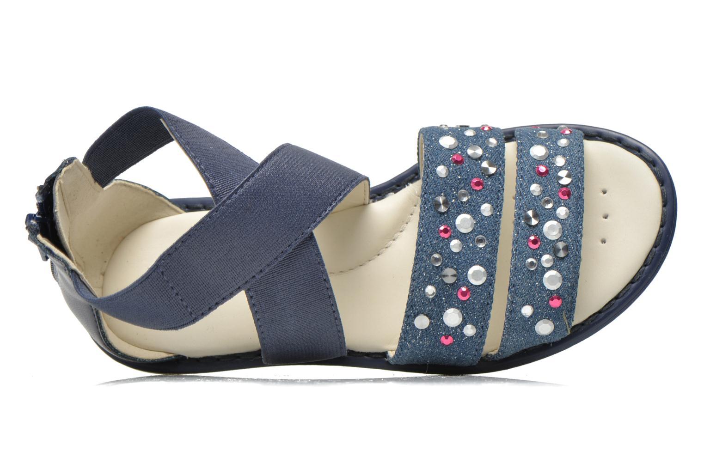 Sandali e scarpe aperte Geox JR Sandal Milk J52D1E Azzurro immagine sinistra