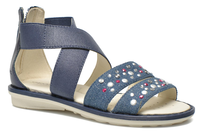Sandals Geox JR Sandal Milk J52D1E Blue detailed view/ Pair view