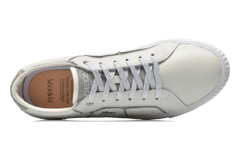 Sneakers Geox J Smart Girl J52F4A Wit links
