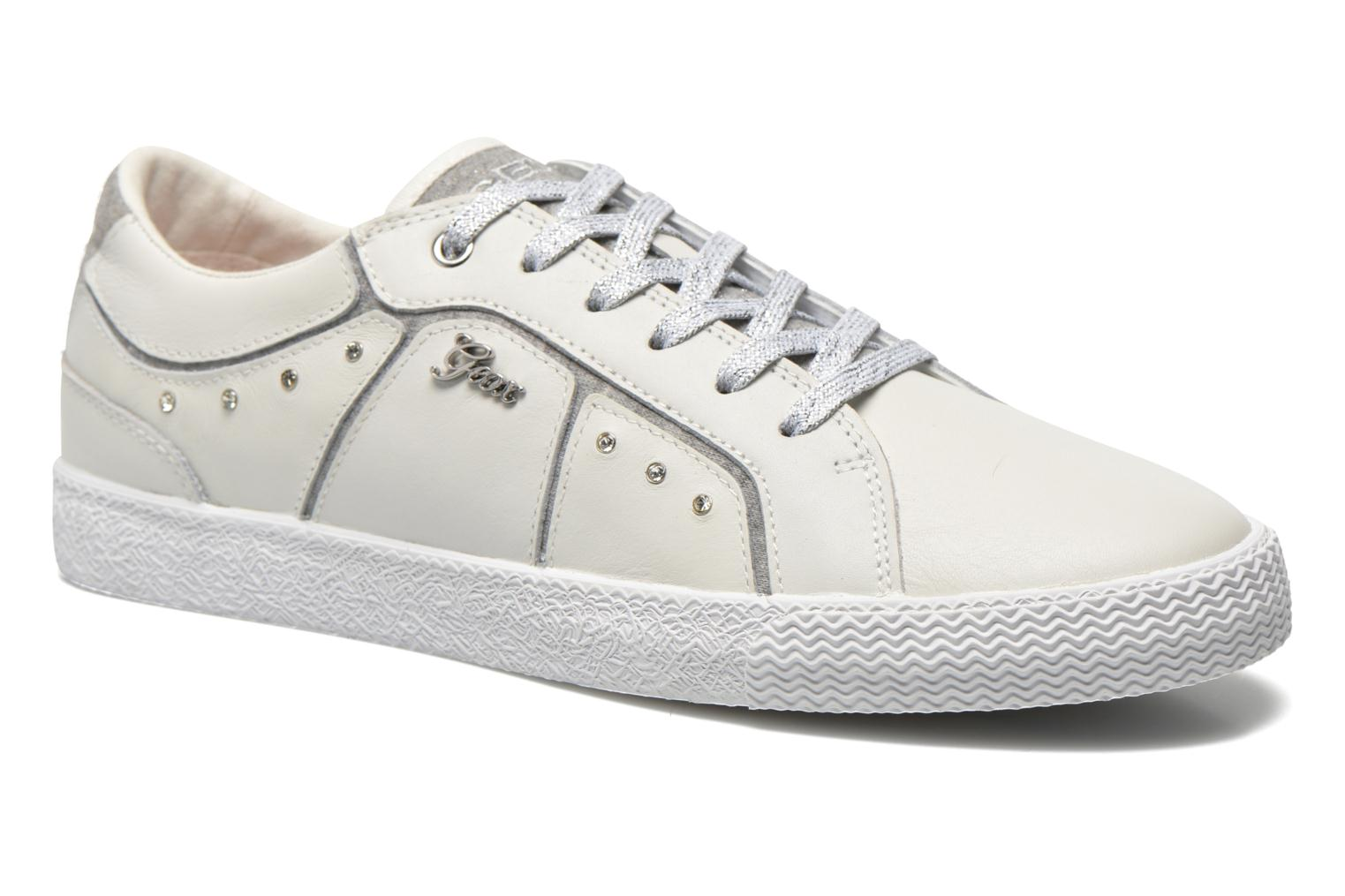 Baskets Geox J Smart Girl J52F4A Blanc vue détail/paire