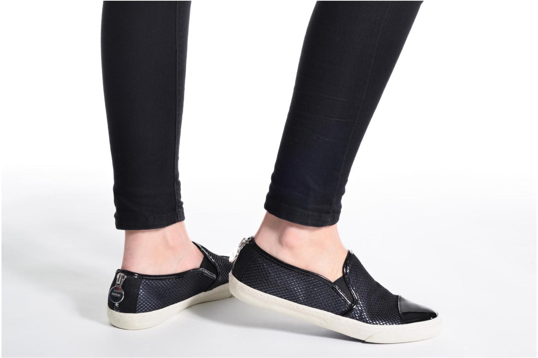 Sneaker Geox D NEW CLUB G D5258G schwarz ansicht von unten / tasche getragen