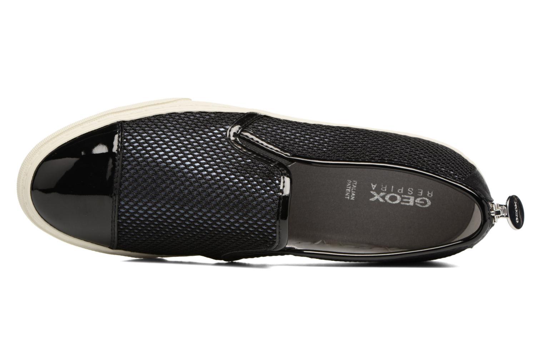 Sneaker Geox D NEW CLUB G D5258G schwarz ansicht von links