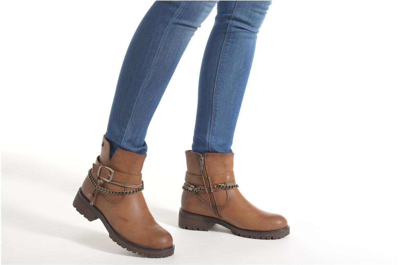 Bottines et boots Refresh Louna-61620 Marron vue bas / vue portée sac