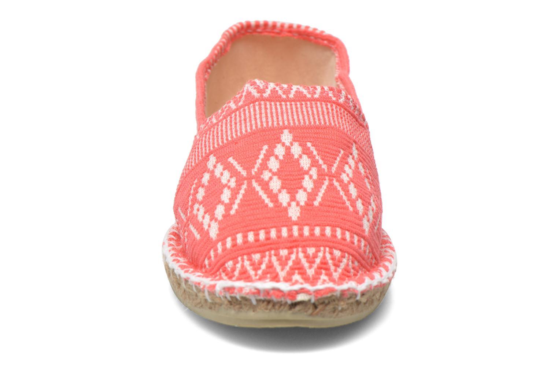 Espadrilles Arsène Navarose Rouge vue portées chaussures
