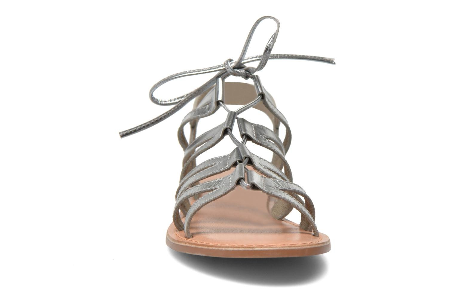 Sandals I Love Shoes SUGLI Leather Silver model view
