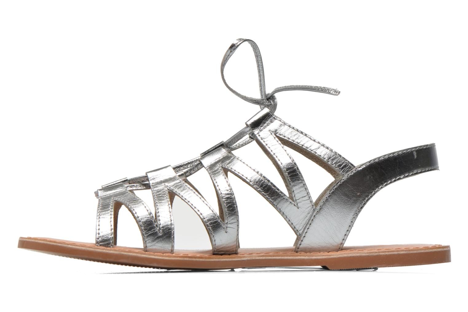 Sandals I Love Shoes SUGLI Leather Silver front view