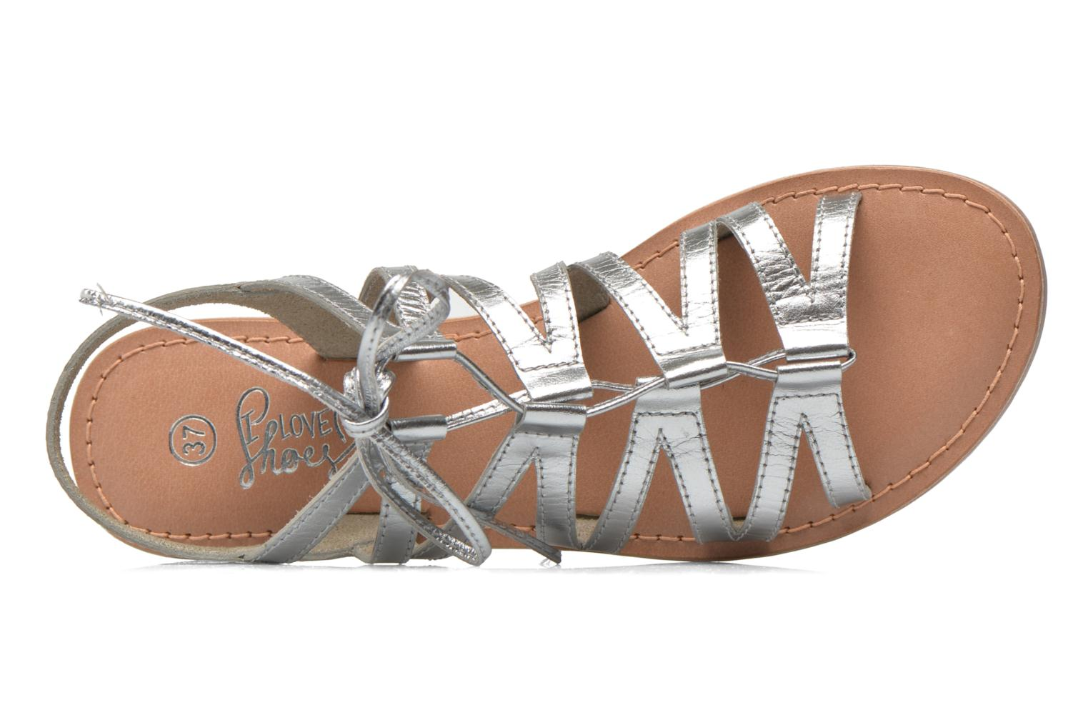 Sandals I Love Shoes SUGLI Leather Silver view from the left