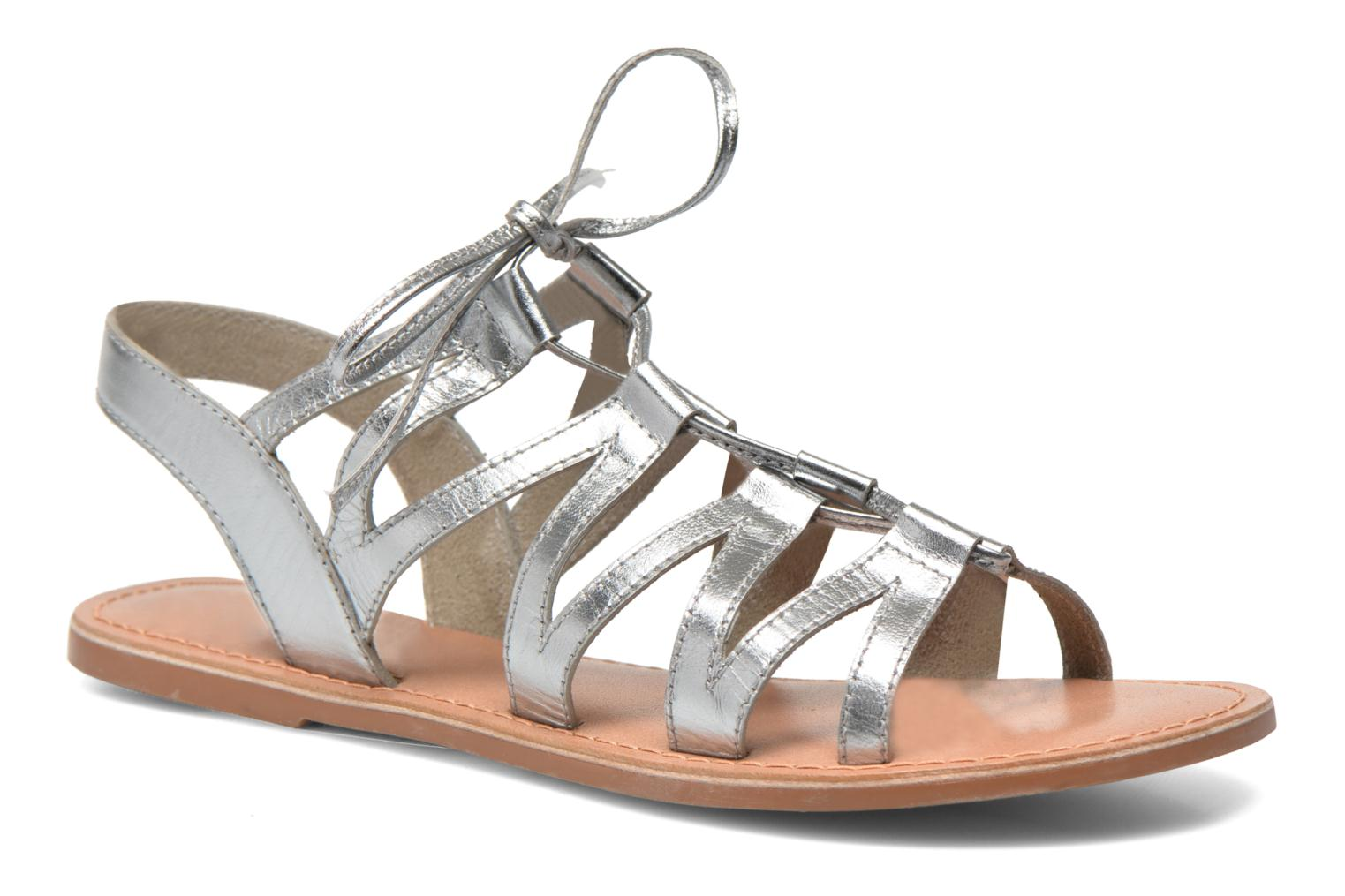 Sandals I Love Shoes SUGLI Leather Silver detailed view/ Pair view